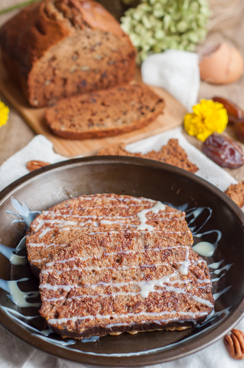 Banana Nut and Date Bread French Toast - GastroSenses